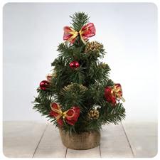 Искусственная ёлка декор. красная 20-50 см