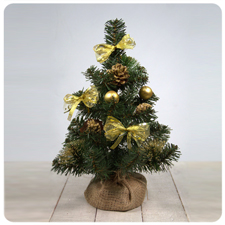 Искусственная ёлка декор. золото 20-50 см