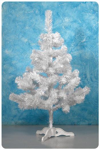 Маленькая белая искусственная елка 90 см